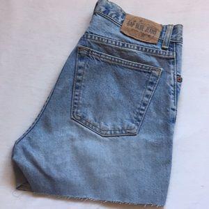 Vintage denim high waisted shorts